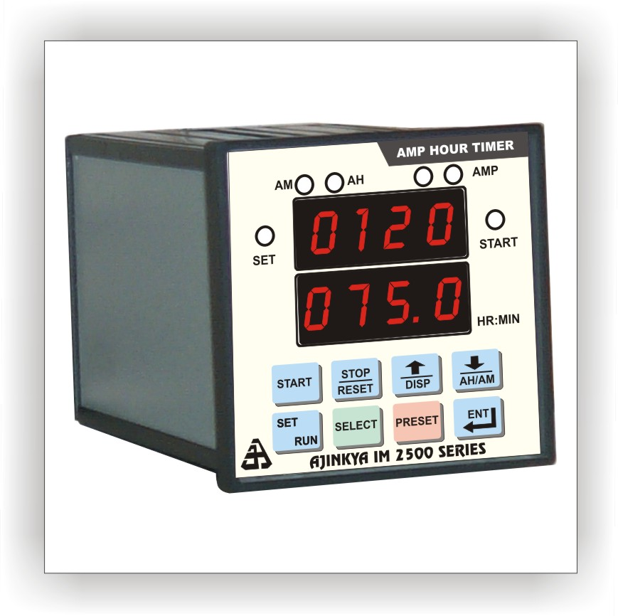 Programmable Hour Meter : Ampere hour meter with timer im ajinkya electronic
