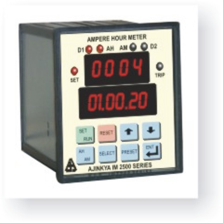 Amp Hour Meter : Ampere minute second meter im ajinkya electronic systems